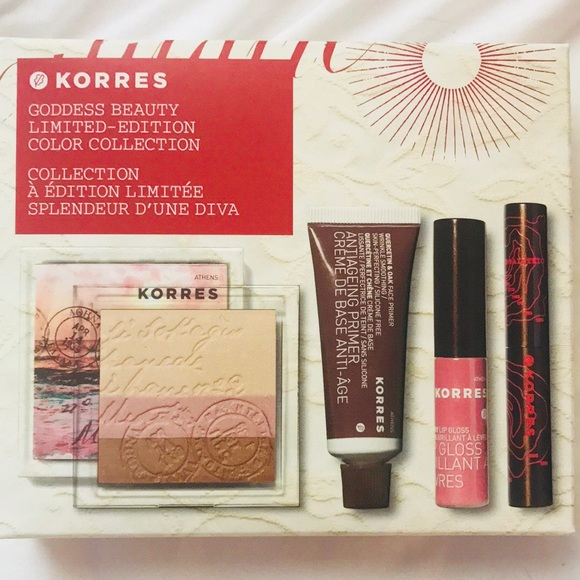 KORRES Goddess Beauty 4pc Makeup kit + FREE BAG